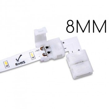 5x Connector for 2 Led Strips PCB 8MM 90°