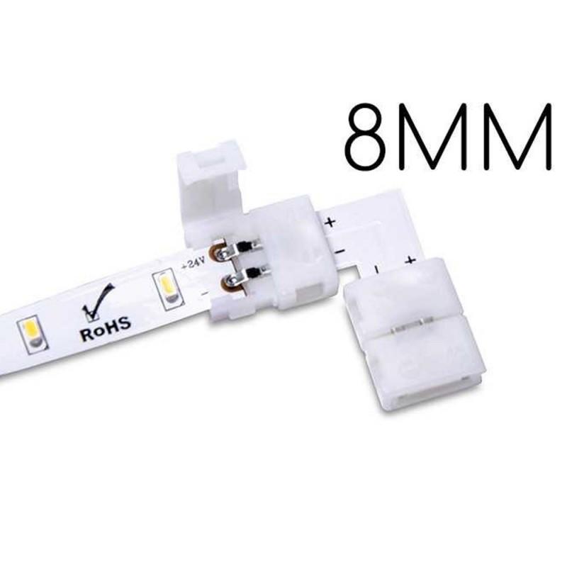 5x Conector para conectar 2 Rayas Led con 8MM 90 ° PCB