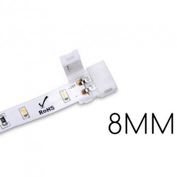 5x Connector for 2 Led Strips PCB 8MM