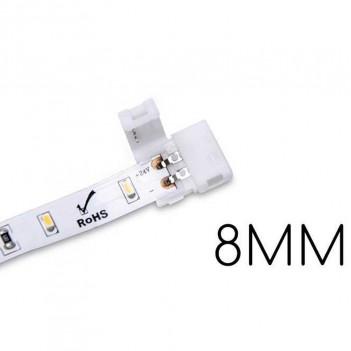 5x Connettore per Collegare 2 Strisce Led con PCB 8MM