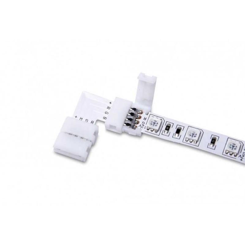 5x Conector para conectar 2 tiras de LED RGB 5050 con 10MM 90 °