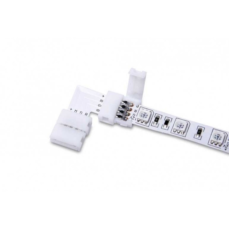 5x Connector for 2 Led Strips RGB 5050 PCB 10MM 90°
