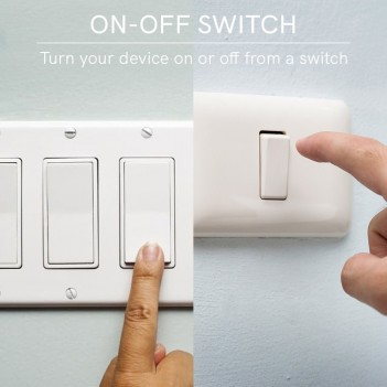 Smart WiFi Controller On / Off Switch Compatible with 2 Switches