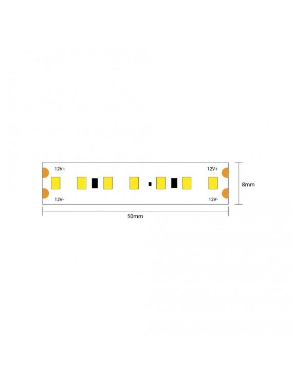 Led Strip 72W 8000lm 24V IP20 PCB 8mm 600 SMD Reel 2835 Samsung