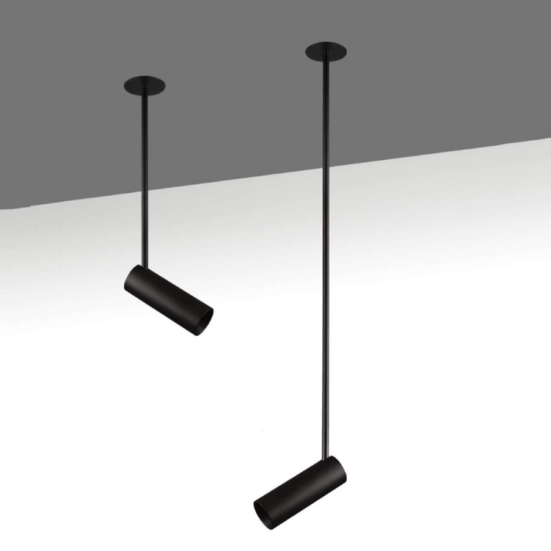 Faretto Spot da Soffitto OPTIMA LONG 400mm GU10 Nero