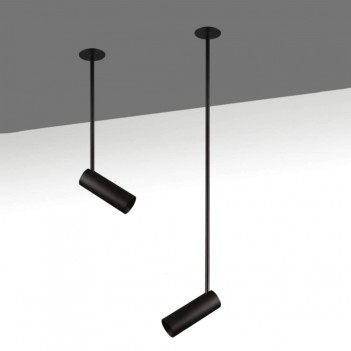 Faretto Spot da Soffitto OPTIMA LONG 700mm GU10 Nero
