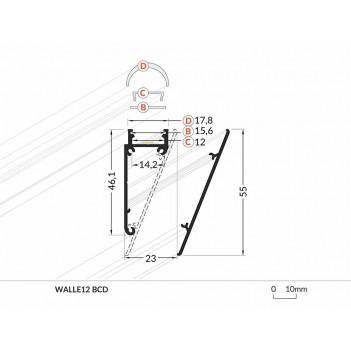 Profilo in Alluminio Modello WALLET12 - Bianco B