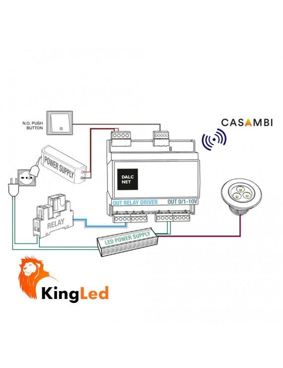 DALCNET ADC1248-4CH - CASAMBI - Multi-Line Push Dimmer
