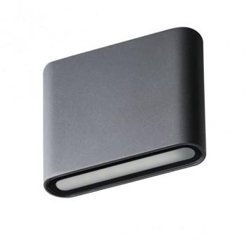 Applique da Muro 8W 300lm 4000K 220V IP54 – GARTO Antracite