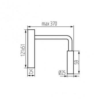 Applique da Muro 2,7W 100lm 3000K 220V IP20 – TONIL Nero