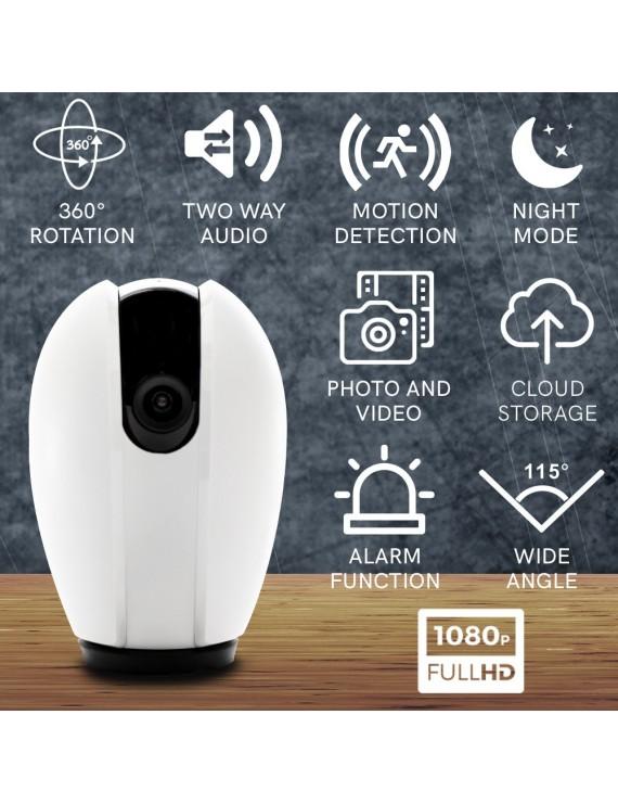 Telecamera Pan&Tilt HD Orientabile – Smart WiFi compatibile con