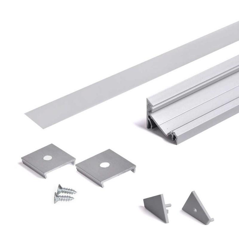 Profilo in Alluminio Angolare 30°/60° Modello CORNER14 -