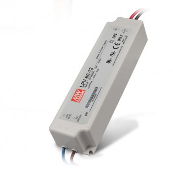 Outdoor Power Supply 60W for Led Strip 12V Meanwell LPV-60-12
