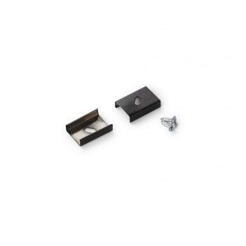 Set 2 Ganci S PLATE per Profilo in Alluminio