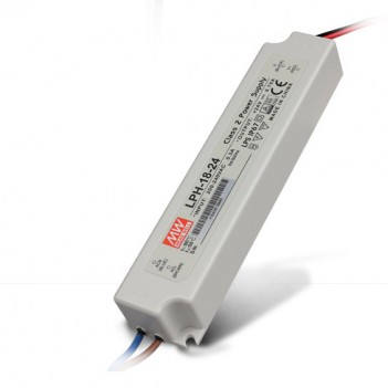 Outdoor Power Supply 18W for 24V Led Strip Meanwell LPH-18-24