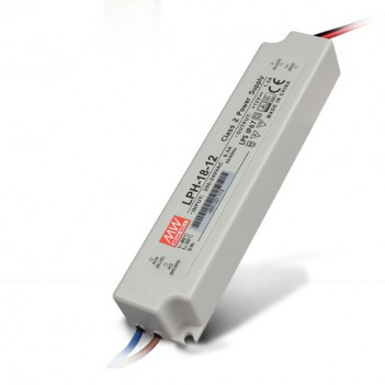 Outdoor Power Supply 18W for 12V Led Strip Meanwell LPH-18-12