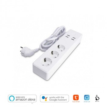 Smart Power Strip Wi-Fi 16A Schuko + USB