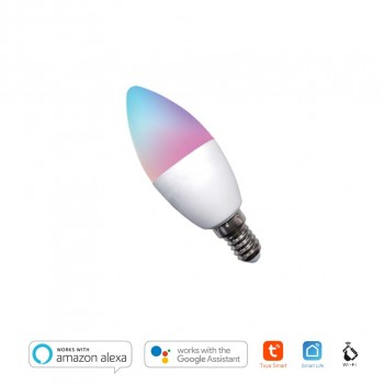 Lampadina Led Candela E14 4,5W 380lm - Smart WiFi compatibile