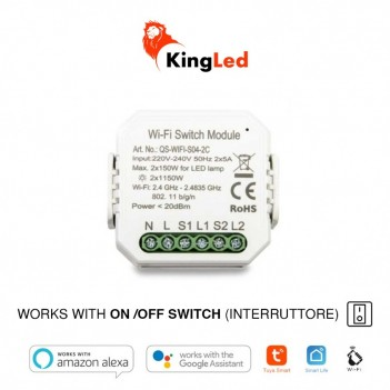 KiWi - Dual Switch WiFi – Interruttore On / Off per 2