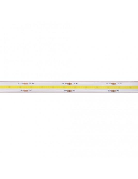 Striscia Led COB 75W 8000lm 24V IP65 PCB 12mm Chip Led Continua