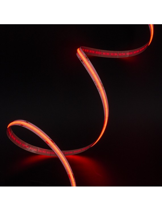 Striscia Led COB 75W Luce Rossa 24V IP20 PCB 10mm Chip Led