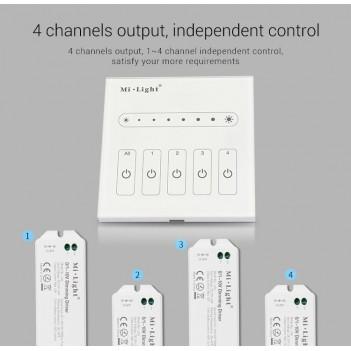 Mi-Light Telecomando da Muro WiFi Dimmer 0-10V 4 Zone Full