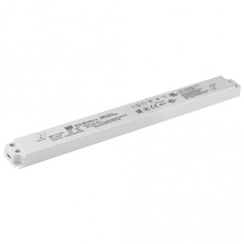 ALIMENTATORE MEANWELL SUPERSLIM 50W PER STRIP LED 24V 110-305V
