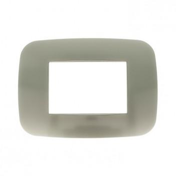Placca Cornice Futura 3 Moduli Titanio - Serie Lute