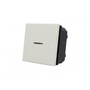 Interruttore Assiale 2 Moduli 1P BIANCO Compatibile BTICINO