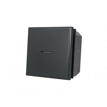 Interruttore Assiale 2 Moduli 1P Nero Lute Compatibile BTICINO