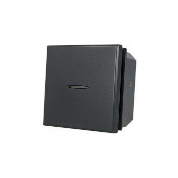 Deviatore Assiale 2M 1 Polo 16A NERO Compatibile BTICINO AXOLUTE