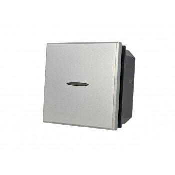 Deviatore Assiale 2M 1 Polo 16A Silver Tech Compatibile BTICINO