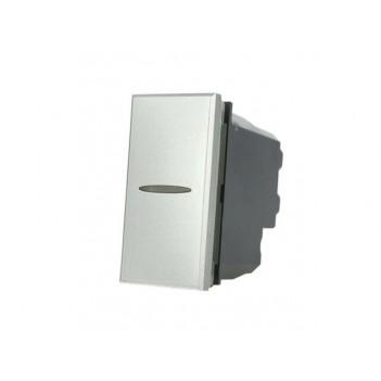 Deviatore Assiale 1 Modulo 1 Polo 16A Silver Tech - Serie Lute