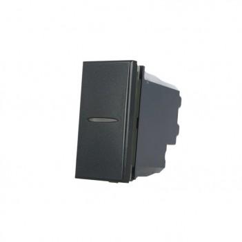 Deviatore Assiale 1 Polo 16A Nero Compatibile BTICINO AXOLUTE