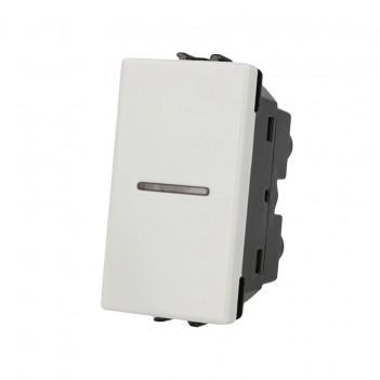 Deviatore Assiale 1 Modulo 1 Polo 16A Bianco - Serie Lute