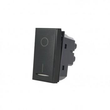 Interruttore 1 Modulo 2 Poli I-O 16A NERO Compatibile BTICINO