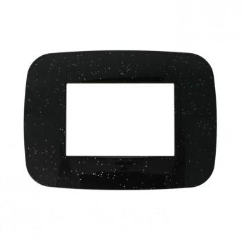 Placca Cornice Futura 3 Moduli Nero Flash Compatibile BTICINO
