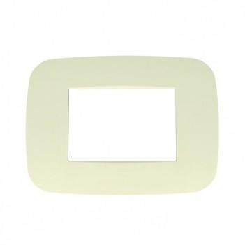 Placca Cornice Futura 3 Moduli SABBIA Lute Compatibile BTICINO