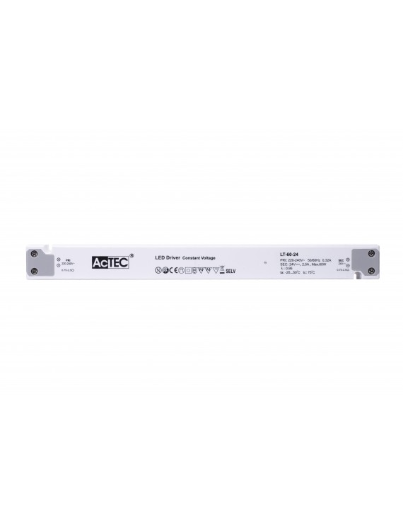 Alimentatore Actec LT 60W 12V - Design Lineare LT-60-12