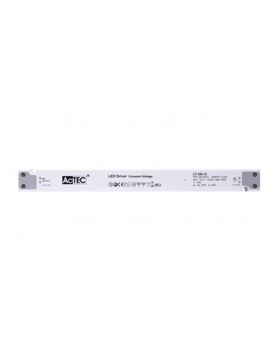 Alimentatore Actec LT 100W 24V - Design Lineare LT-100-24