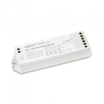 Mi-Light Ricevitore Dimmer 0/1-10V, 10V PWM, Push 12/24/48V 12A