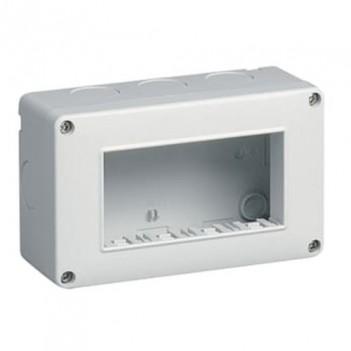 Box Esterno 3 Moduli S6103B T1 Bianco Compatibile Vimar Plana