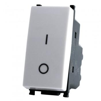 Interruttore Bipolare 1 Modulo T2 Bianco / Nero / Alluminio