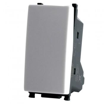 Interruttore 1P 1 Modulo T2 Bianco / Nero / Silver Compatibile