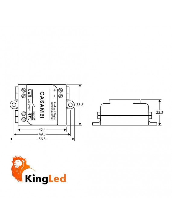Casambi CBU-ASD Dimmer 0-10V / 1-10V / DALI Gestione Bluetooth