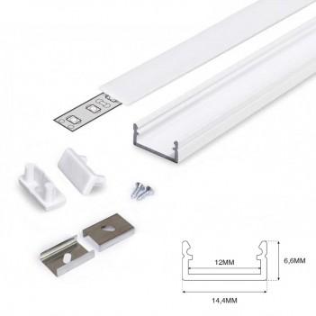 Profilo in Alluminio Modello BEGTON12 - Bianco J-S