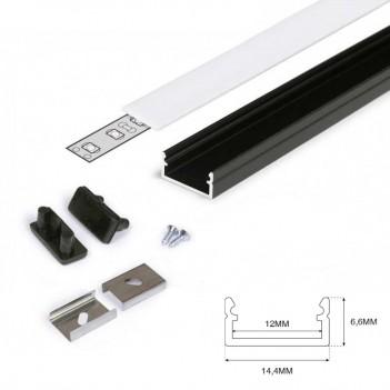 Profilo in Alluminio Modello BEGTON12 - Nero J-S - KingLed
