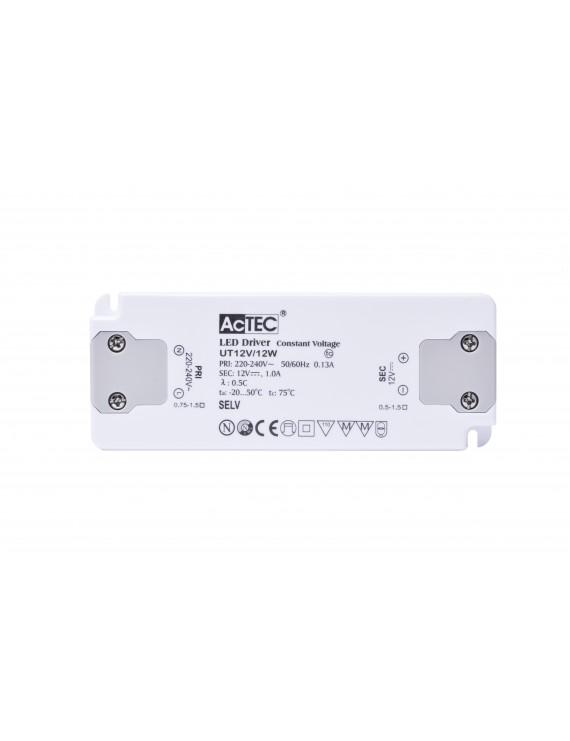 Alimentatore Actec UT 12W 12V - Ultra Fino Per Mobili