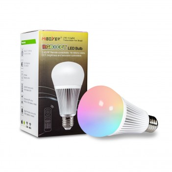 Mi-Light 9W E27 RGB+CCT LED Bulb 2.4GHz RF Remote FUT102