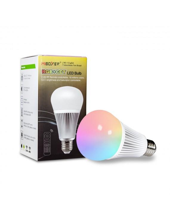 Mi-Light 9W E27 RGB+CCT LED Bulb 2.4GHz RF Remote FUT102